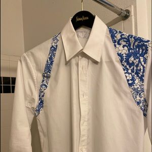 Alexander McQueen white harness shirt